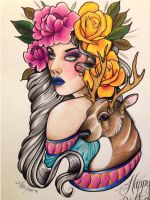 Deer Lady by ambayeahart