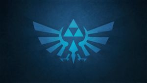 Minimalistic Blue Triforce wallpaper 2 by Createvi