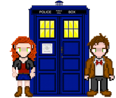 Amy and the Doctor Sprites by Silverhammer37