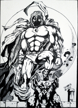 Moon Knight Inked by SqueakyMarshmallow