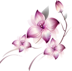 [Res] Purple Flowers PNG by HanaBell1