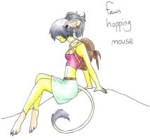 Fawn Hopping mouse by gugi40