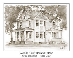 Pencil Drawing of old home by gregchapin