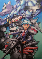 Steven Stone and Pokemon ORAS team by y0wai