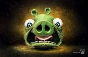 Angry pig by krolone