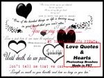 Love Quotes and Hearts Brushes by JenniferSpriggs