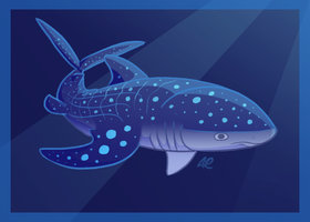 Shark Week #5 - Whale Shark by SlushiOwl
