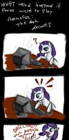 Rarity meets Amnesia by Phenri