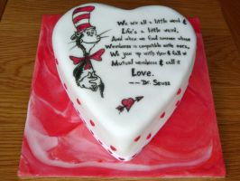 Cat in the Hat Valentine's Cake by Rebeckington