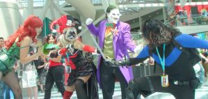 Bat Villains vs. Nightwing at the Anime Expo 2012 by trivto