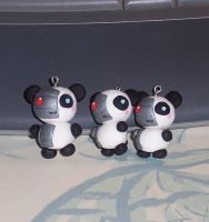 Bionic Polymer Clay Pandas by SeaOfCreations