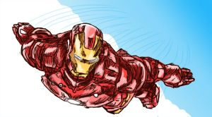iron man doodle by asimpleparadox