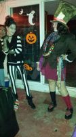 Beetlejuice Meets Mad Hatter (halloween 2014) by FlightOfTheFireBird
