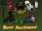 Plants vs Zombies: Happy Halloween from Deez Three by Sergeant-Sunflower