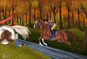 Kastell's Autumn Fox Chase - Catch it! by xSapience
