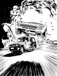 Car chase IAsketchblog by NoirZone
