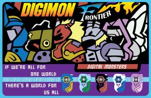 Digimon Frontier Poster - Spirit Evolution by OddPenguin