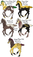 Cameo x Dragon/Gold Foals - Available! by gyngercookie