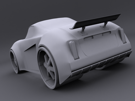 Car Concept Rear by Squint911