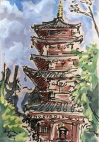 Hondoji Temple Pagoda by angelac
