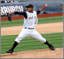 Marte's first pitch by LaFeePhotography