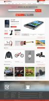 Ecommerce homepage by teddy2081