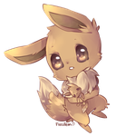 Commission Chibi For TinyEevee-ChanX3    by Hideaki-FV2