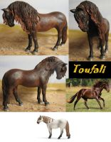 Repain and cust Schleich Andalusian mare (sold) by Schleichgirl1976
