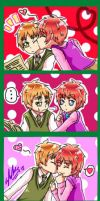 1P!England and 2P!England- A little kiss by 13Kitty95