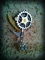 Gears of Time Fantasy Key by ArtByStarlaMoore