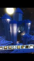 Minecraft Blue Castle by EveresshiaWind
