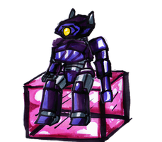 Lil Shockwave and his cube by Ferrus-Aquila