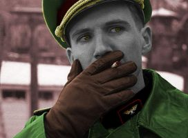 Commissar Barnes - Whatever is he thinking about? by Amaranth7777