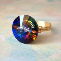 Meridian Blue Rivoli Ring by lulabug