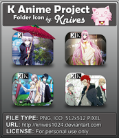 K Anime Project Anime Folder Icon by Knives by knives1024