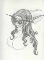 Tyrande Sketch for the Hot Tyrande herself by Winged-warrior