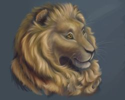 Portrait of a Lion by speckledwanderer