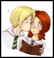 Rose and Scorpius_First kiss by FEuJenny07