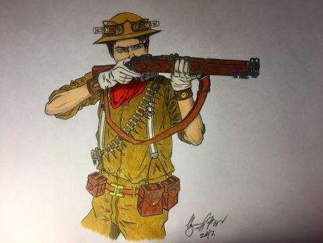 Steampunk sapper NZ Engineers by IzmaylovNail