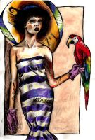 with a parrot by Tallis