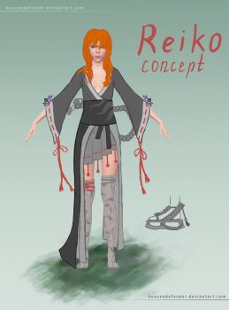 Reiko OC Concept Colorless by HeavenDefender