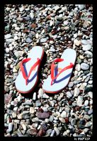 on the stone loose slippers by mufash