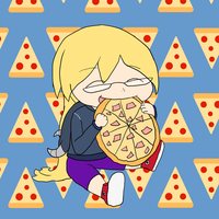 Chibi Michelle and Pizza by neverb4