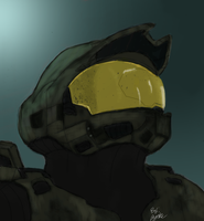 First Photoshop painting : Master Chief by JyakuDesigns