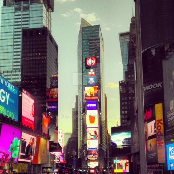 Times Square - New York City by TheDarkAbb