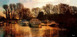 down by the river side... by awjay