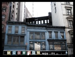 NYC - Blue Building by clairwitch