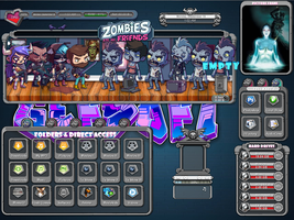 Zombies eat my friends animated rainmeter skin by Gefsoft