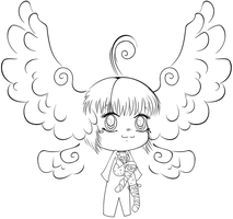 chibi angel WIP by CandyArtist
