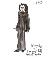 My first time drawing Johnny Depp as Sweeney Todd by Magic-Kristina-KW